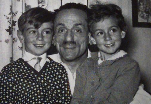 Eduardo coi figli Luca e Luisella