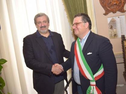 Emiliano con il sindaco Miglio
