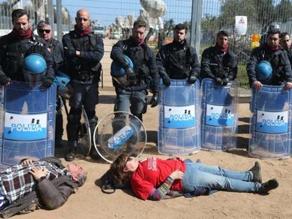 Le proteste di ieri a San Foca