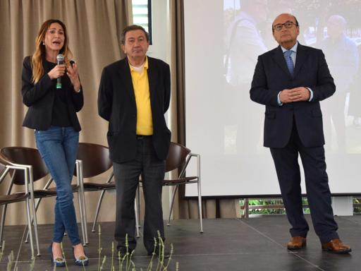 Elvira Salvino con Antonio Azzollini e Luigi Vitali