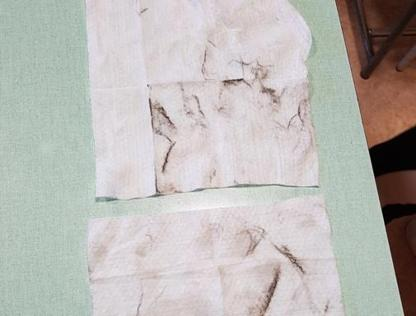 I fazzoletti usati dai bambini  e pieni di polveri